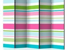 Paraván - Bright stripes II [Room Dividers]